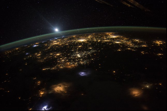 NASA astronaut Scott Kelly took this photograph of a sunrise over the western United States and posted it to social media on August 10, 2015. NASA has announced a record amount of applicants to its astronaut program ahead of an ambitious Mars mission. Photo courtesy of NASA/UPI