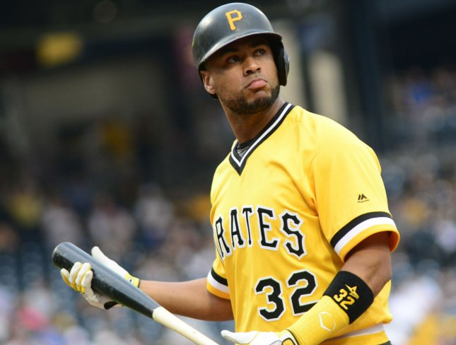 Elias Diaz and the Pittsburgh Pirates take on the San Francisco Giants on Friday. Photo by Archie Carpenter/UPI