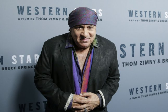Steven Van Zandt arrives on the red carpet at a screening of Western Stars at Metrograph in New York City on October 16, 2019. The guitarist turns 70 on November 22. File Photo by John Angelillo/UPI