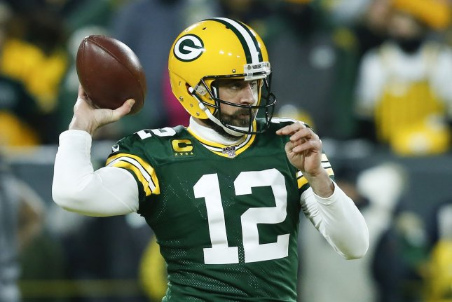 Green Bay Packers quarterback Aaron Rodgers completed 21 of 25 passes for 231 yards, four touchdowns and an interception in a win over the Tennessee Titans on Sunday in Green Bay, Wis. File Photo by Nuccio DiNuzzo/UPI