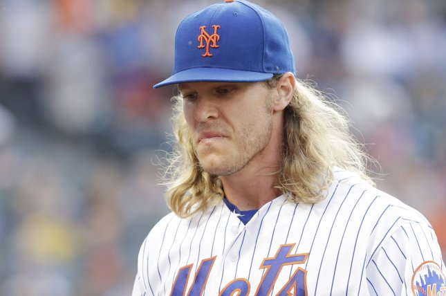 New York Mets starting pitcher Noah Syndergaard. Photo by John Angelillo/UPI