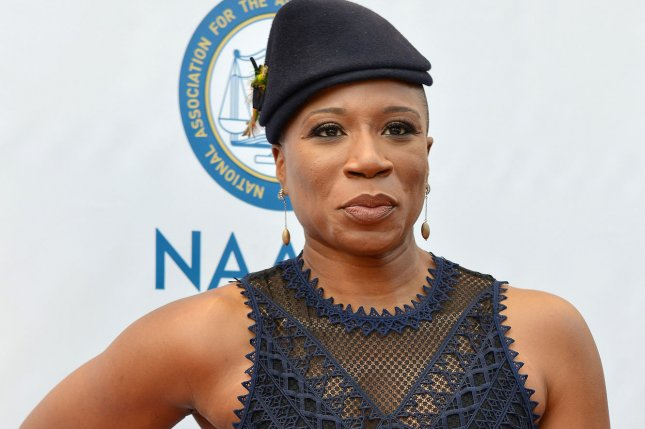 Actress Aisha Hinds arrives for the 48th NAACP Image Awards at the Pasadena Civic Auditorium on February 11. Hinds will play Harriet Tubman in Season 2 of the historical drama Underground, starting Wednesday. Photo by Christine Chew/UPI