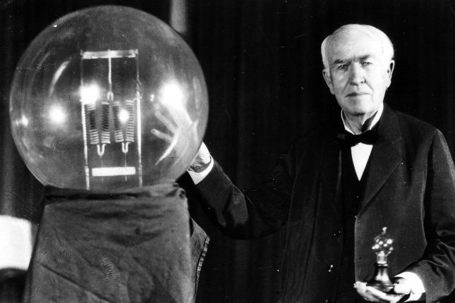On October 18, 1931, Thomas Edison, pictured here in 1929, died at the age of 84. UPI File Photo