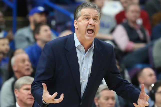 Kentucky basketball coach John Calipari. Photo by BIll Greenblatt/UPI