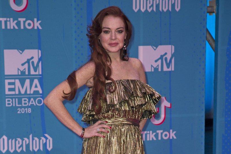 Lindsay Lohan attends the MTV Europe Music Awards on November 4. File Photo by Sven Hoogerhuis/UPI