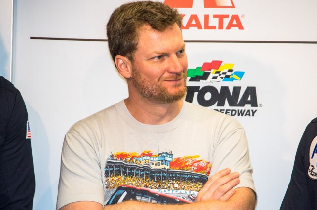 Dale Earnhardt Jr. served as honorary grand marshal for the 2018 Daytona 500. File Photo by Edwin Locke/UPI