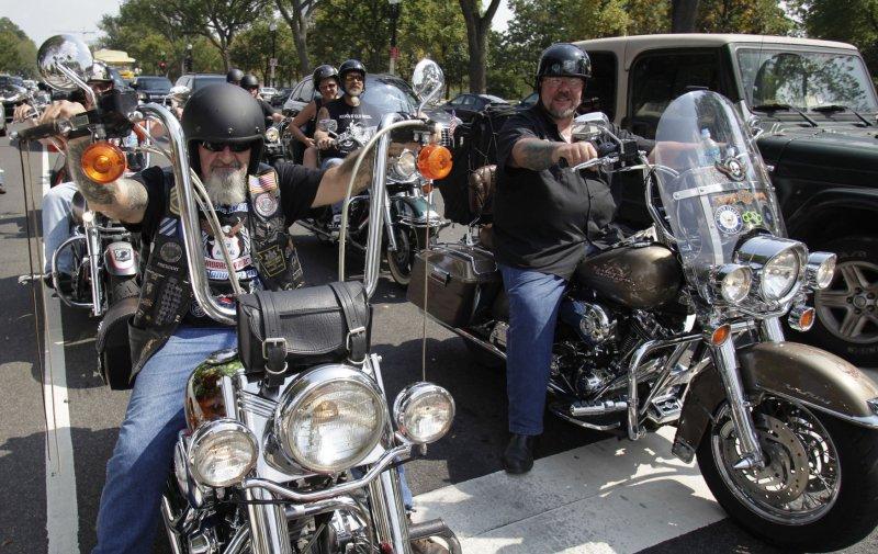 Bikers participate in America's 9/11 Ride in Washington on September 11, 2013. UPI/Yuri Gripas