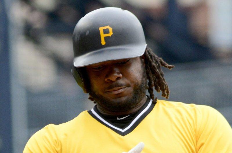 Pittsburgh Pirates first baseman Josh Bell has 18 home runs this season. File Photo by Archie Carpenter/UPI