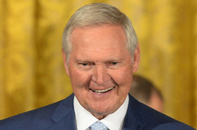 Golden State Warriors adviser Jerry West was a 14-time NBA All-Star with the Los Angeles Lakers. File Photo by Pat Benic/UPI