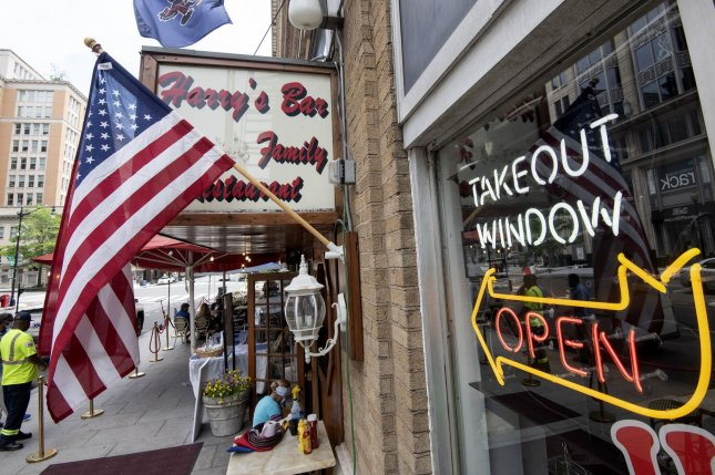 Harry's Bar and Restaurant in Washington, D.C., is open for business on May 29 after the first stage of a reopening plan began in the nation's capital. Photo by Pat Benic/UPI