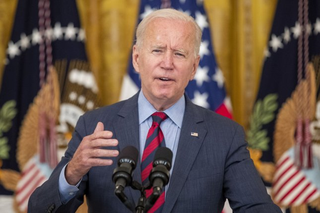 President Joe Biden on Tuesday announced the United States has donated and sent more than 110 million COVID-19 vaccine doses to more than 60 countries to slow the spread of the virus.Photo by Shawn Thew/UPI