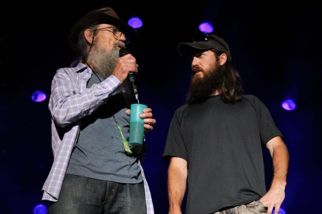 The Cast from Duck Dynasty performs during the CMA Music Festival at LP Field in Nashville. UPI/Terry Wyatt