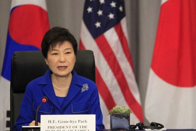 South Korean President Park Geun-hye is under fire for her recent remarks on North Korea defections. Pool File Photo by Dennis Brack/UPI