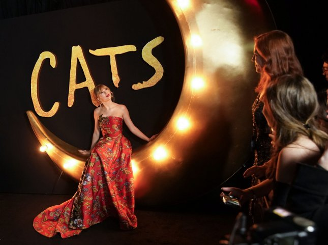 Taylor Swift's movie musical Cats was nominated for eight Razzie Awards, including Worst Picture, on Saturday morning. File Photo by John Angelillo/UPI