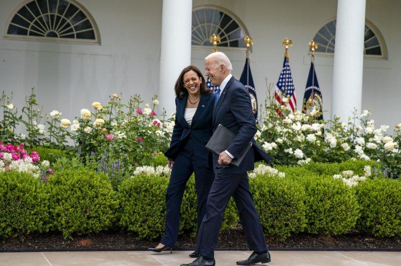 President Joe Biden and first lady Jill Biden as well as Vice President Kamala Harris and second gentleman Doug Emhoff released their tax returns on Monday, the White House said. Photo by Tasos Katopodis/UPI