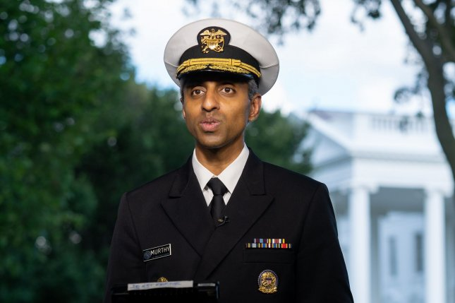 U.S. Surgeon General Dr. Vivek Murthy said Sunday he believes full federal approval of Pfizer and BioNTech's COVID-19 vaccine may tip some who have not yet been inoculated to get the vaccine. Photo by Ken Cedeno/UPI