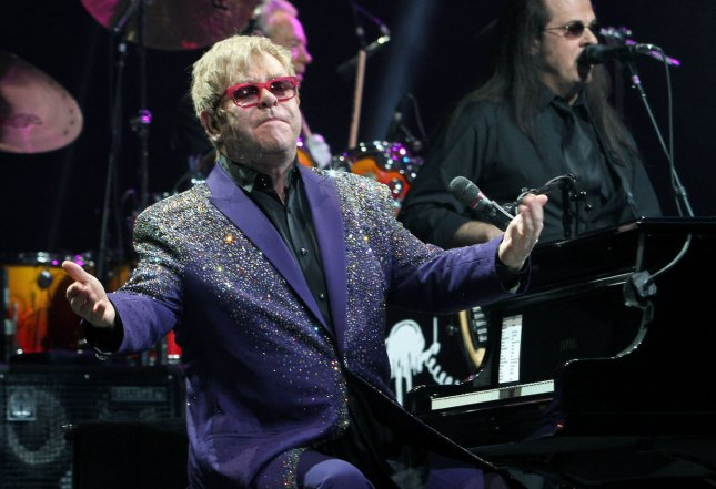 Elton John performs in concert at the BankAtlantic Center in Sunrise, Florida on March 9, 2012. UPI/Michael Bush