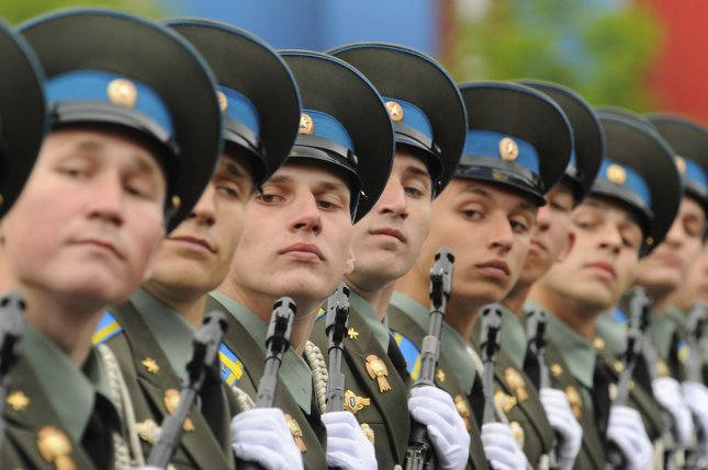Russian military cadets march during the Victory Day Parade on the Red Square in Moscow. Russia and North Korea have maintained friendly ties, although Kim Jong Un ultimately declined to attend Moscow's Victory Day Parade last May. UPI.