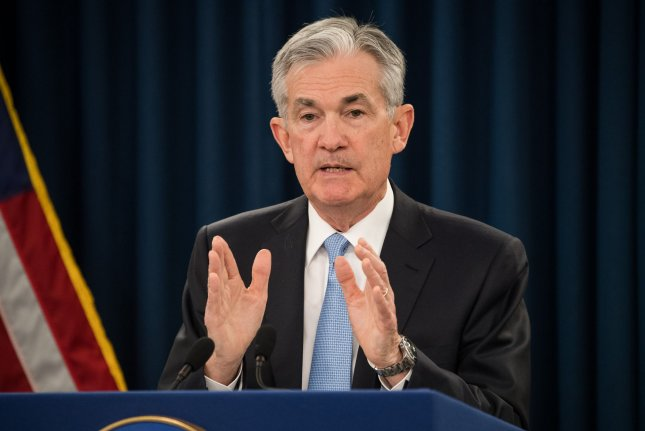 Federal Reserve Chairman Jerome Powell and other policy makers unanimously voted Wednesday to keep interest rates unchanged.  File Photo by Kevin Dietsch/UPI