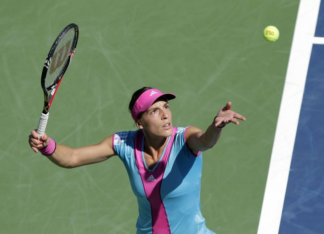 Andrea Petkovic, shown in a 2011 file photo, posted an upset win Monday over world No. 2 Victoria Azarenka in a first-round match at the China Open, Azarenka won the tournament last year. UPI/John Angelillo