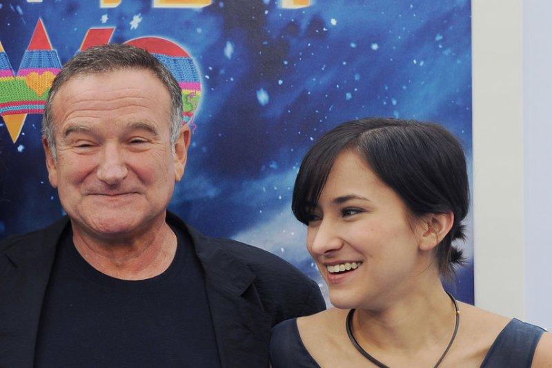 Robin Williams and daughter Zelda Williams. UPI/Jim Ruymen