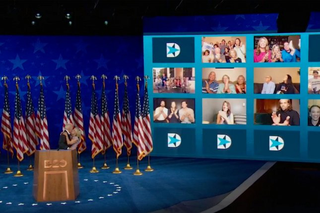 Democratic candidate Joe Biden formally accepts the party's nomination for president of the United States last Thursday, on the final night of the 2020 Democratic National Convention, from Wilmington, Del. UPI Photo