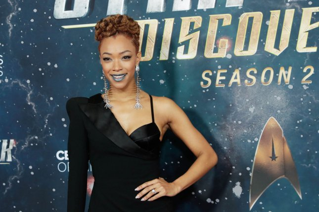 Sonequa Martin-Green arrives at the Star Trek: Discovery Season 2 premiere in New York in 2019. File Photo by John Angelillo/UPI