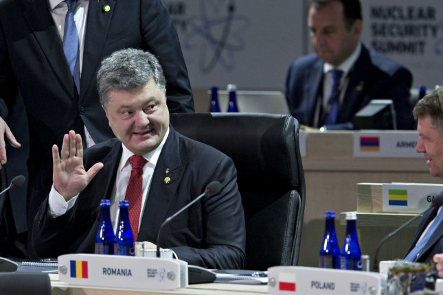Petro Poroshenko, Ukraine's president, is mentioned in the Panama Papers that reveal the secrets of those who deal in offshore accounts to skirt tax laws. Pool photo by Andrew Harrer/UPI