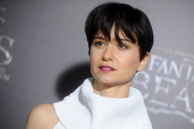 Katherine Waterston arrives on the red carpet at the Fantastic Beasts and Where to Find Them world premiere on November 10, 2016 in New York City. The actress says her Beasts co-star Ezra Miller inspired her hairstyle for her next movie Alien: Covenant. File Photo by Dennis Van Tine/UPI