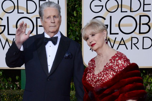 Brian Wilson (L) and his wife Melinda Ledbetter. Wilson is set to go on tour with The Zombies starting in August. File Photo by Jim Ruymen/UP