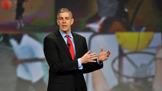 Secretary of Education Arne Duncan (pictured) voiced frustration with opposition over Common Core last week while on Capitol Hill. File/UPI/Brian Kersey