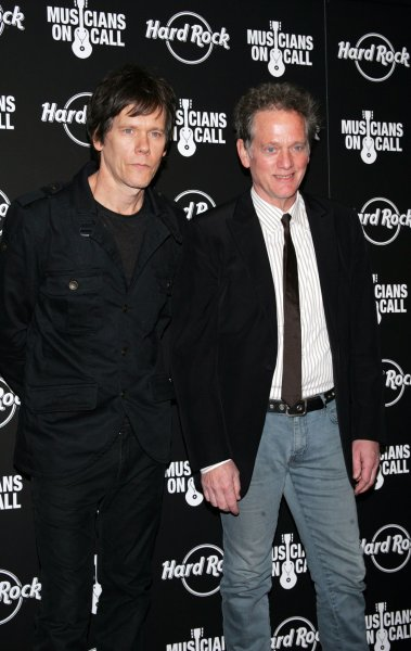 The Bacon Brothers (Kevin (L) and Michael) arrive for the 5th Annual Musicians On Call Benefit Concert at Hard Rock Cafe in New York on February 24, 2009. (UPI Photo/Laura Cavanaugh)