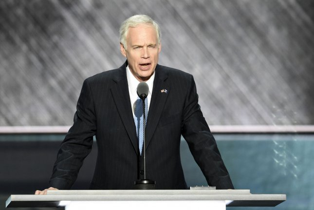 Sen. Ron Johnson of Wisconsin speaks on Day 2 of the Republican National Convention at Quicken Loans Arena in Cleveland on July 19. File Photo by Pete Marovich/UPI