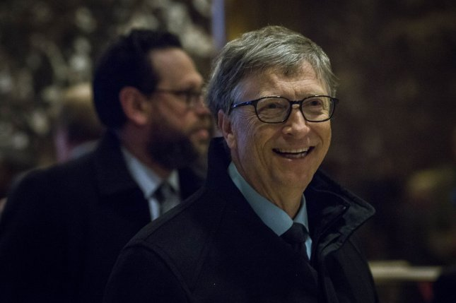 Bill Gates sent a Reddit user a huge box of gifts including a cookbook and video game paraphernalia as part of the online forum's gift exchange. Reddit user Aerrix shared a long and thankful post describing the gifts in detail. Pool photo by John Taggart/UPI