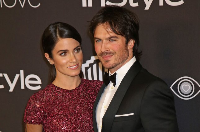 Ian Somerhalder (R) and Nikki Reed attend the InStyle and Warner Bros. Golden Globes after-party on January 8. The actor penned an adoring message to Reed on her 29th birthday Wednesday. File Photo by David Silpa/UPI