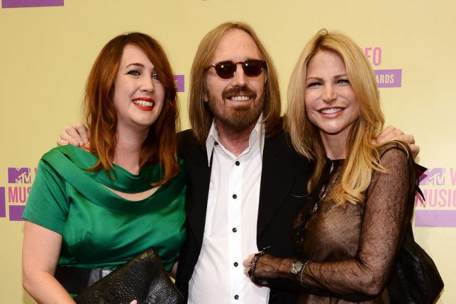 Tom Petty arrives with his wife Dana (R) and daughter Adria (L), for the MTV Video Music Awards on September 6, 2012. Musicians including John Mayer and Brian Wilson mourned the death of Petty on social media. File Photo by Jim Ruymen/UPI