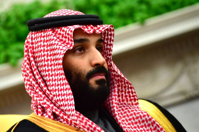 Crown Prince Mohammed bin Salman of the Kingdom of Saudi Arabia meets with U.S. President Donald Trump in the Oval Office at the White House on March 20. File Photo by Kevin Dietsch/UPI