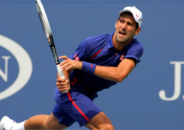 Novak Djokovic, shown a the 2012 U.S. Open, defeated Andy Murray in four sets Sunday in winning his third coinsecutive Australian Open championship. UPI Photo/Monika Graff