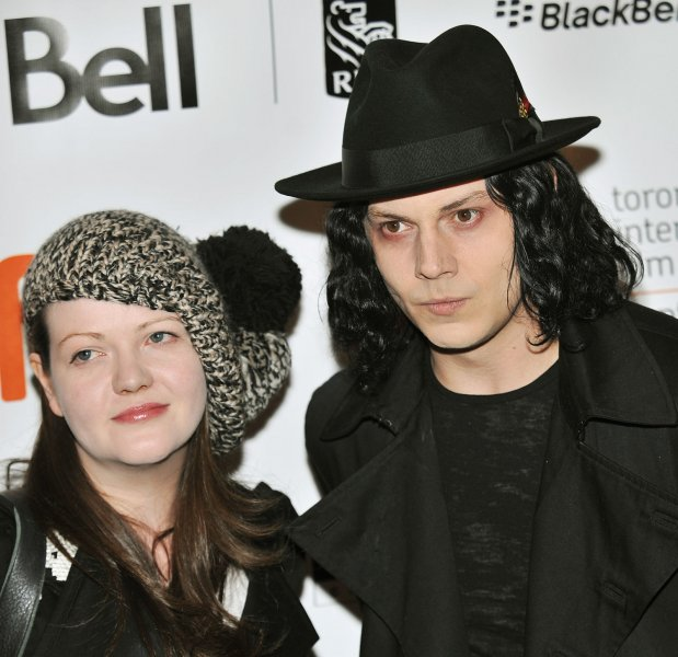 White Stripes' Jack and Meg White arrive for the world premiere of the documentary The White Stripes: Under Great White Northern Lights during the Toronto International Film Festival at the Elgin Theater in Toronto, Canada, on September 18, 2009. The White Stripes issued a statement saying they were disgusted with Donald Trump's use of their song Seven Nation Army. File Photo by Christine Chew/UPI