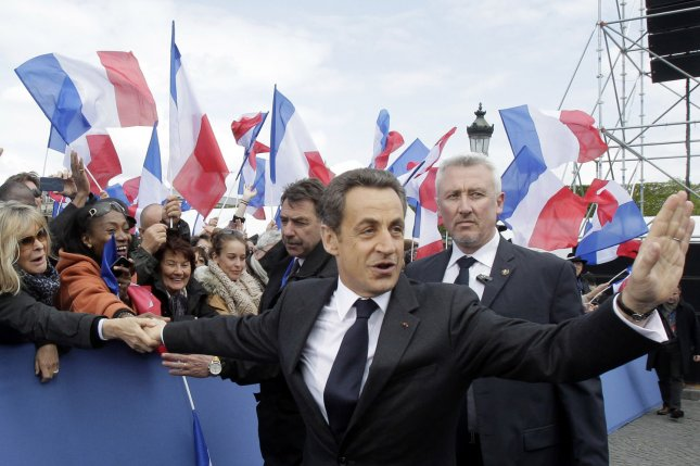 Former French President Nicolas Sarkozy was questioned by police over allegations that he recieved millions in illegal campaign funding from Libya. File photo by Michel Euler/UPI