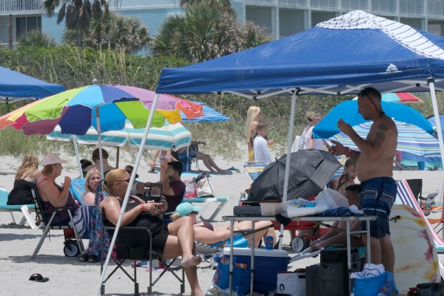 Beaches in some parts of Florida will be closed for the Fourth of July holiday because of the fear of spreading the coronavirus. File Photo By Gary I Rothstein/UPI