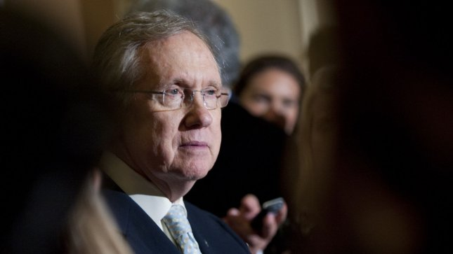 Senate Majority Leader Harry Reid (D-NV), seen on May 8, lauded the Supreme Court's decision to uphold the healthcare mandate. UPI/Kevin Dietsch