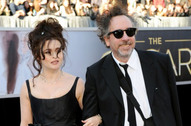 Helena Bonham Carter, left, and longtime partner Tim Burton revealed they separated earlier this year. File Photo by Kevin Dietsch/UPI