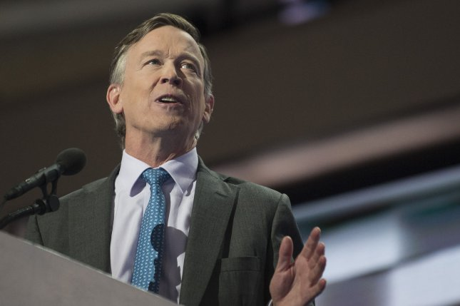 Colorado Gov. John Hickenlooper touts a balanced state energy agenda that he says should serve as a national model in politically divisive times. Photo by Pete Marovich/UPI