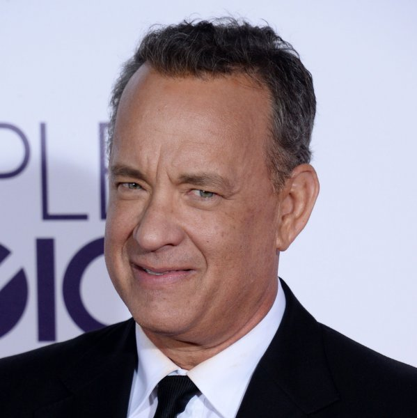 Tom Hanks attends the 43rd annual People's Choice Awards in Los Angeles on January 18. The actor's David S. Pumpkins Halloween Special is air on NBC Oct. 28. File Photo by Jim Ruymen/UPI