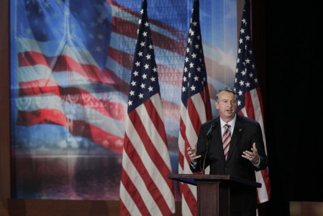Virginia gubernatorial candidate Ed Gillespie is on the ballot Tuesday in a bid to replace Democratic Gov. Terry McAuliffe. File Photo by John Angelillo/UPI