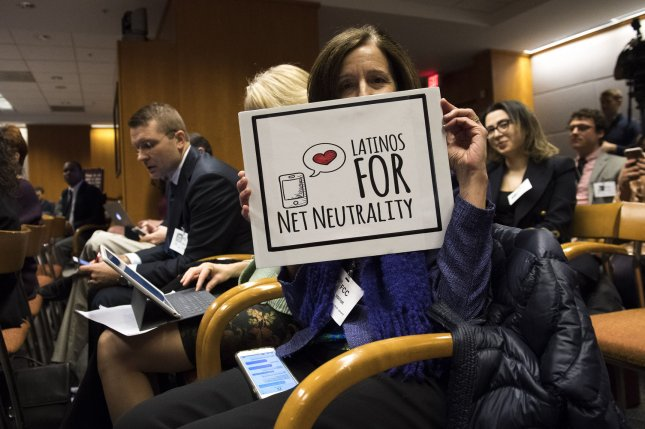 A coalition of Internet companies and users filed an appeal in the D.C,. Court of Appeals to revisit the Federal Communications Commission's decision to change rules regarding net neutrality. File Photo by Kevin Dietsch/UPI