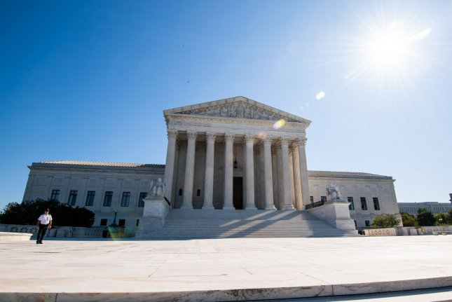 The U.S. Supreme Court is seen in Washington, D.C., on Monday, the first day of the high court's new term. Photo by Kevin Dietsch/UPI