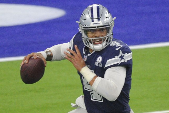 Dallas Cowboys quarterback Dak Prescott says that he is healthy and plans to lead his team to a Super Bowl title next season. File Photo by Lori Shepler/UPI