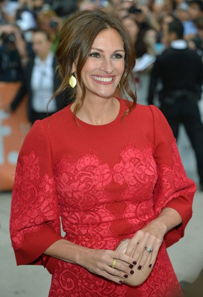 Julia Roberts arrives for the world premiere gala screening of 'August: Osage County' at Roy Thomson Hall during the Toronto International Film Festival in Toronto, Canada on September 9, 2013. UPI/Christine Chew
